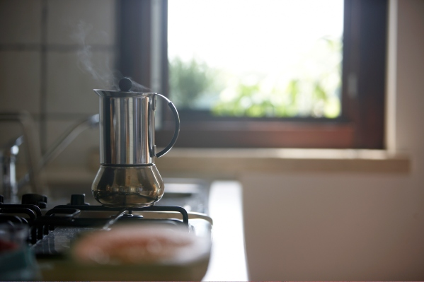coffee pot on stove